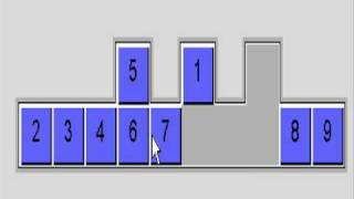 """Solution to """"9 men in a trench"""" sliding box puzzle by chand"""