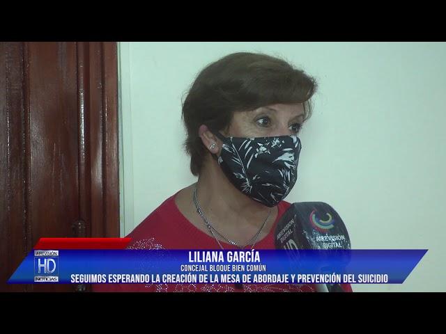 Liliana García Esperando por la creación de la mesa de abordaje y prevención del suicidio