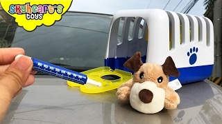 Toddler's PUPPY IS SICK - Going to Doctor Pretend Playtime pet dog toys for kids puppies