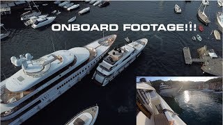 Download EPIC SUPER YACHT  - DOCKING IN PORTOFINO!!! (Captain's Vlog 88) Mp3 and Videos