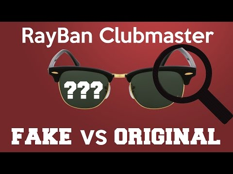 3dee889278 Ray Ban Clubmaster original vs fake - YouTube