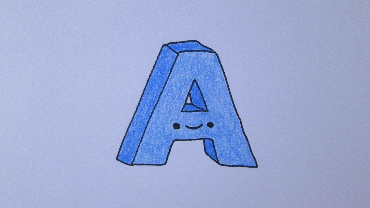 como desenhar a letra a youtube