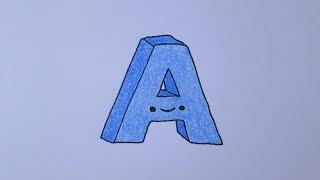 Como desenhar a letra A