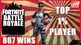 TOP 1% PLAYER - FORTNITE BATTLE ROYALE - NEW PATCH LIVE - 867 WINS - (PS4 PRO) Full HD