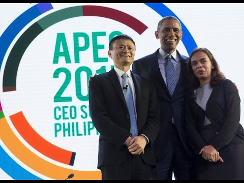Obama interviews Filipino entrepreneur Aisa Mijeno & Jack Ma 歐巴馬訪問菲律賓創業家 Aisa Mijen 與馬雲(中文字幕)