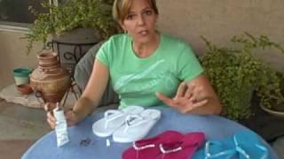 DIY ! Crystal Embellished Flip Flops.