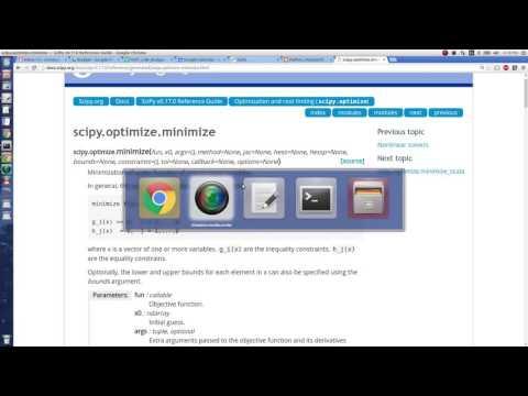 Python Help - Minimization with SciPy - YouTube
