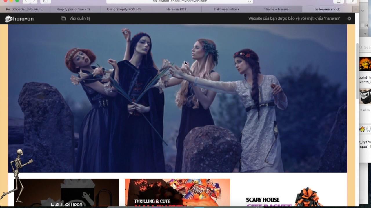 Tạo web miễn phí để bán hàng online Halloween chỉ trong 7 phút với Haravan