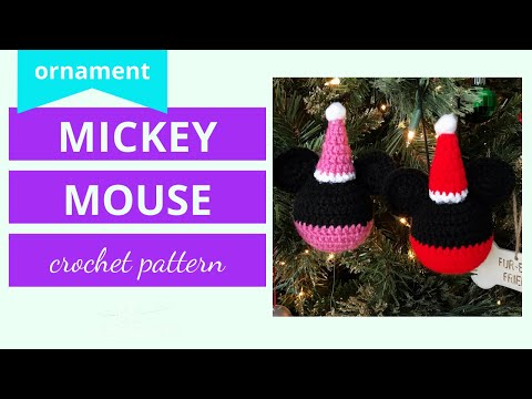 Crochet Mickey Mouse Ornament (tutorial)