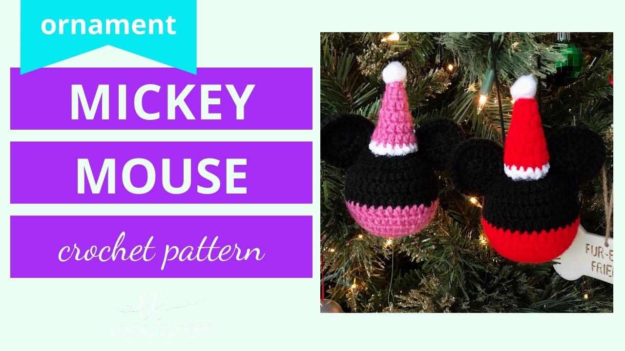 Mickey Mouse Ornament Crochet Pattern Tutorial Crochet Minnie