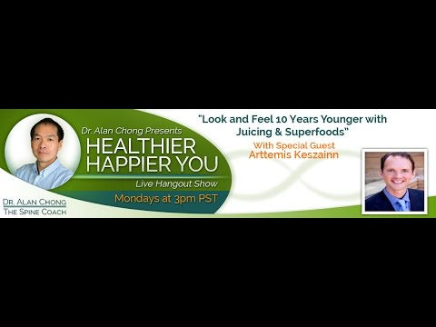 """How to Look & Feel 10 years Younger with Juicing and Superfoods"" with Special Guest Arttemis Kes..."