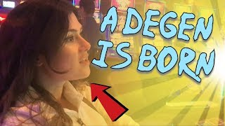 Wins Her First Time Gambling & A Degen is Born (Gambling Vlog #41)