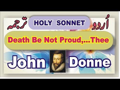 Death be not proud,... Thee; John Donne:Urdu Translation.