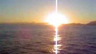 Seychelles Sunrise off Mahé, ship Indian Ocean Explorer