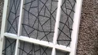 DIY Decorative Antique Door, Stained Glass Effect