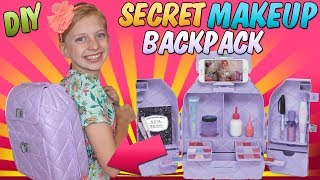 Secret Makeup Backpack--Could YOU Hide This at School??