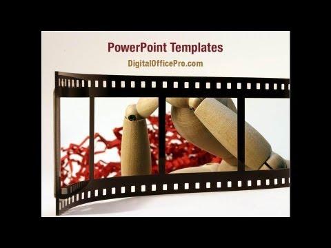 movie reel powerpoint template backgrounds - digitalofficepro, Modern powerpoint