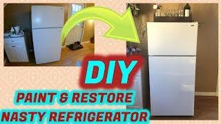 How To: DIY Paint & Restore Nasty Refrigerator
