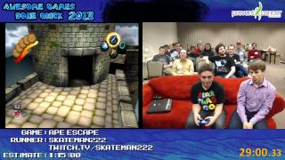ape escape speed run in 53 45 15 by skateman222 awesome games done quick 2013 ps1