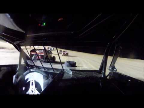 Muskingum County Raceway Feature front stretch wreck