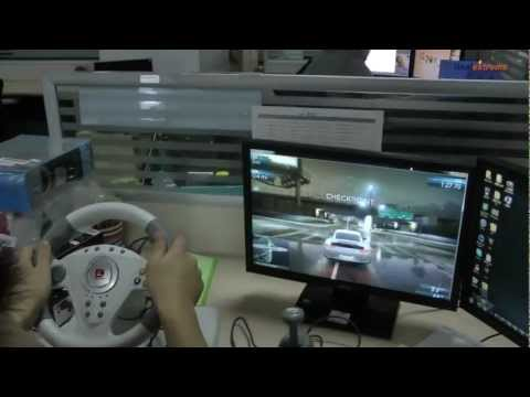DILONG PB808 Racing Wheel Controller w/ Hand Brake & Foot Pedal for Xbox 360 - DX