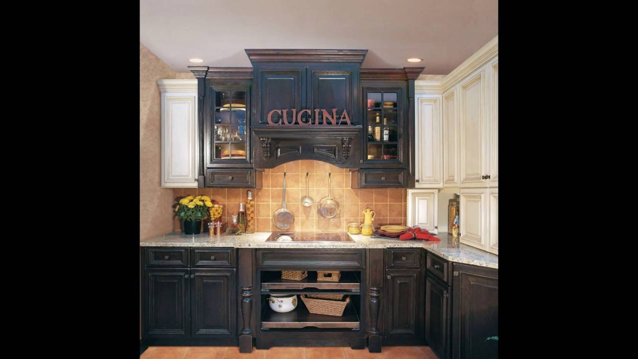 antiqued kitchen cabinets paint colors for small kitchens blue distressed youtube