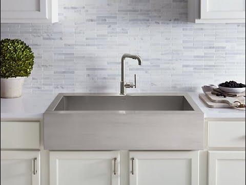 retrofit installation vault farmhouse stainless steel sink