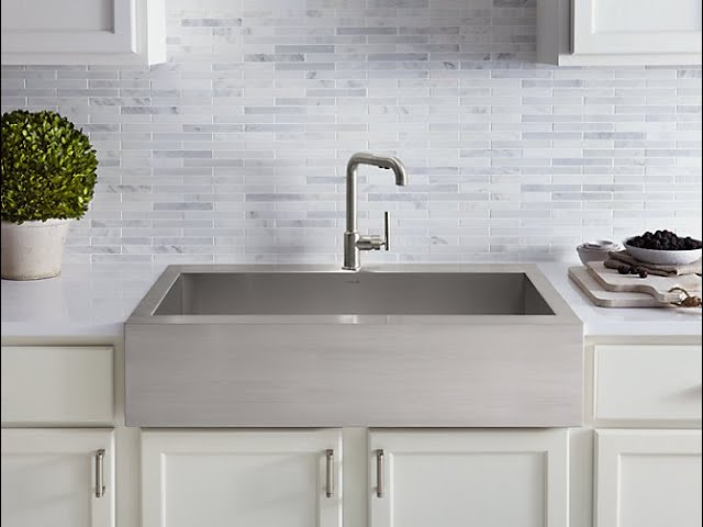 vault farmhouse stainless steel sink
