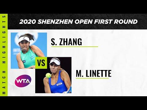 Zhang Shuai Vs. Magda Linette | 2020 Shenzhen Open First Round | WTA Highlights