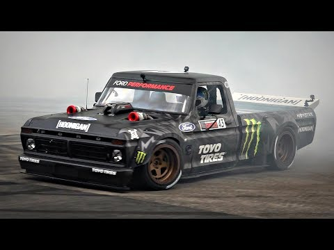 Ken Block's Hoonitruck Doing MAD AWD Donuts @ FoS Goodwood | 900HP 1977 Ford F150 Twin Turbo!