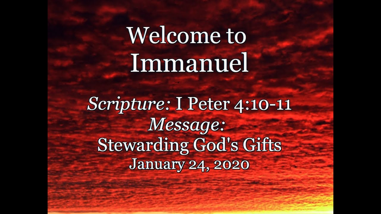 2021-01-24  Immanuel CRC Sunday Service Fort Collins