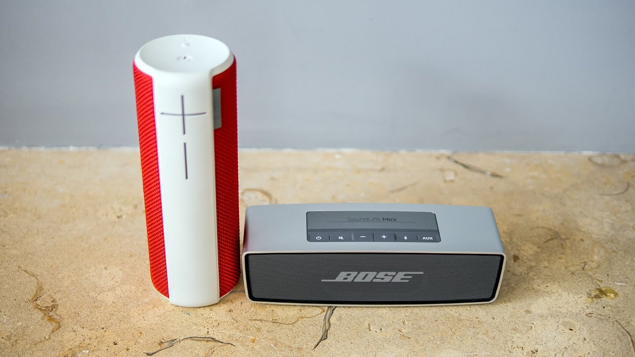Ue boom vs soundlink mini audiotest youtube for Housse ultimate ears boom 2