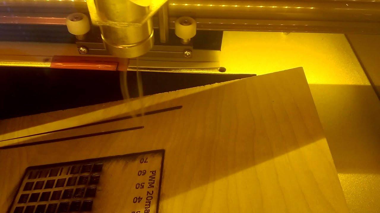 K40 Laser focus lens test