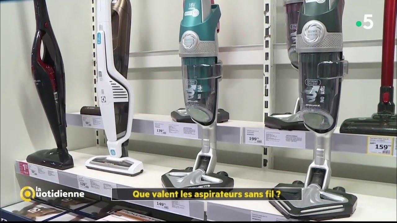 Que valent les aspirateurs sans fil   - La Quotidienne - YouTube 1056726f7b40