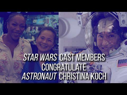 Christina Koch Congratulatory Message – Naomi Ackie and Kelly Marie Tran