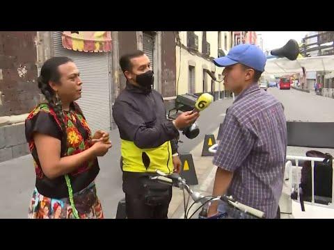 Policías arrebatan bicicleta a Lady Tacos de Canasta