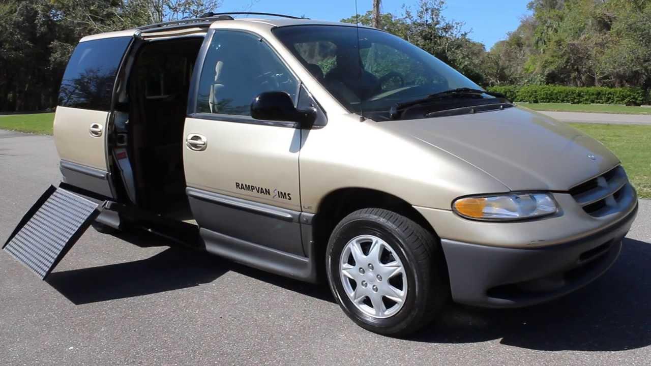 Dodge dodge 1999 caravan : Wheelchair van handicap van ramp van IMSBraun Mobility 1998 Dodge ...