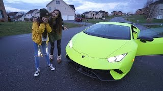 SURPRISING LITTLE SISTER WITH LAMBORGHINI FOR HER BIRTHDAY!