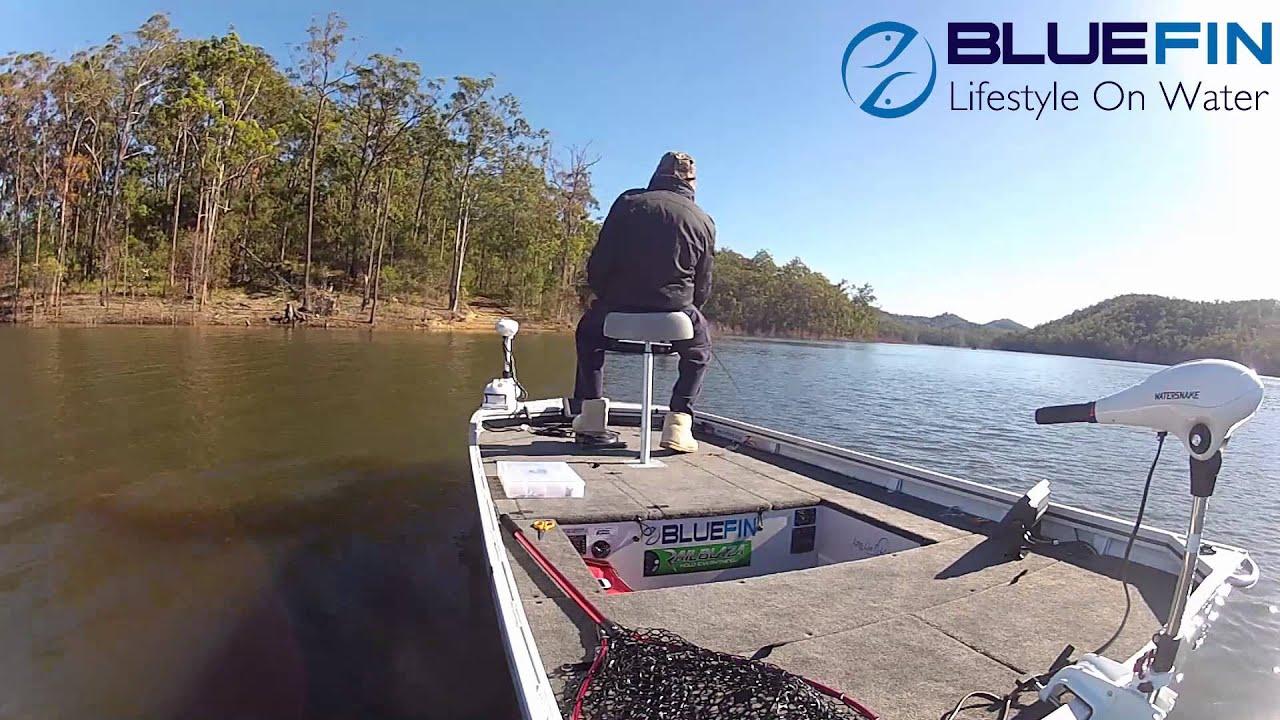 Hinze Dam Bluefin Boats Abt Bass Electric Youtube