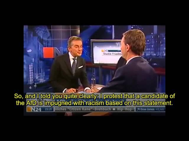 Prof Bernd Lucke (AfD) Walks off of the