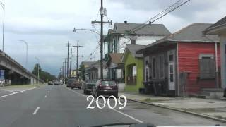 New Orleans Katrina Then and Now May 2009