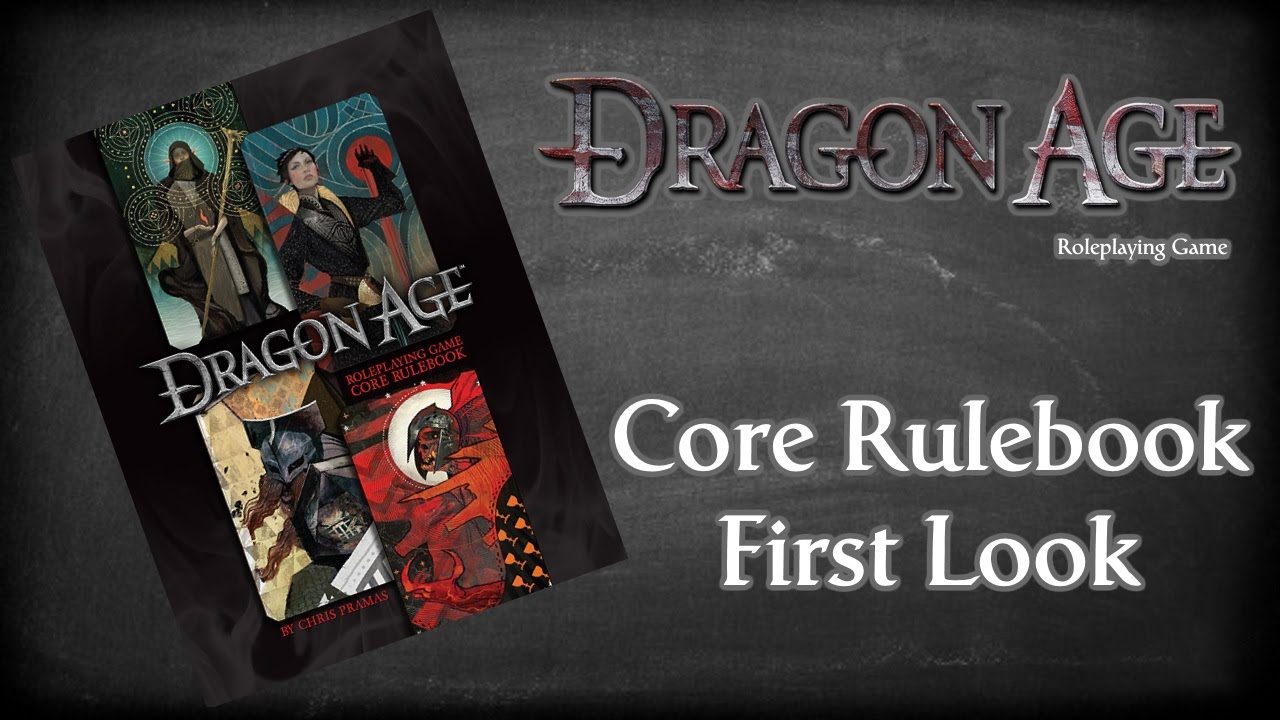 Dragon Age Role Playing Game Core Rulebook By Chris Pramas