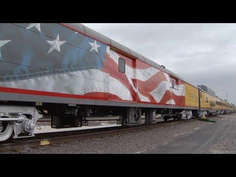 Inside tour of Bush 4141, President Bush's Funeral Train ...
