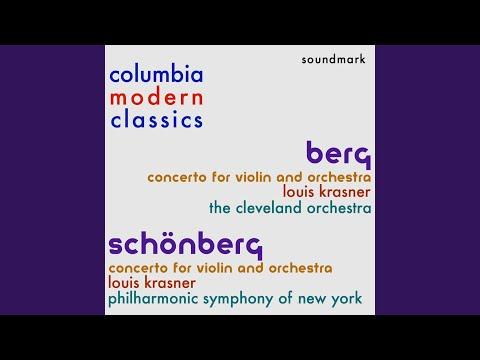 Arnold Schönberg - Concerto for Violin and Orchestra, Op. 36 - I. Poco Allegro
