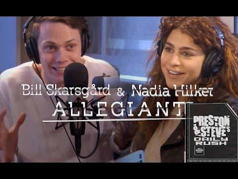 Bill Skarsgard and Nadia Hilker of The Divergent Series: Allegiant - Preston & Steve's Daily Rush