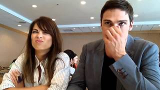 rus sub interview with kristin kreuk jay ryan of the cw s beauty and the beast at comic con 2013