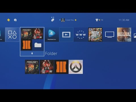 How to Add a Folder for your Games on PS4