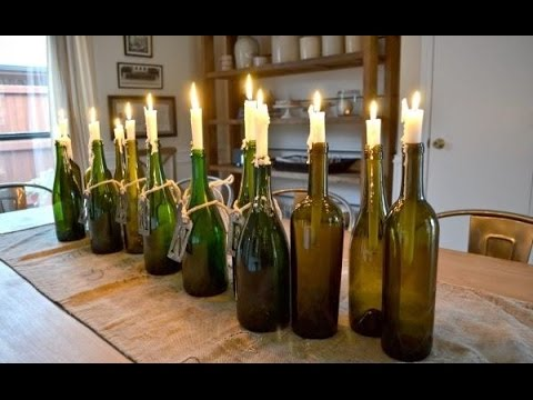 How to make beautiful decorations with empty glass bottle youtube - Weinflaschen deko ...