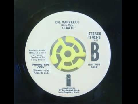 Rare Klaatu Single Dr. Marvello