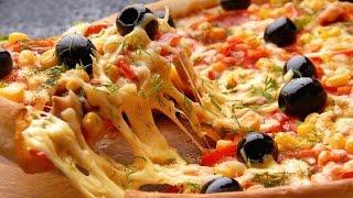 Пицца с Колбасой и Грибами в Духовке! Рецепт Теста для Пиццы!